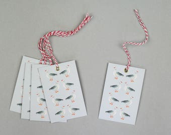 Christmas Gift Tags, Gift Tags, Holiday Gift Tags, Geese Tags, Swing Tags.