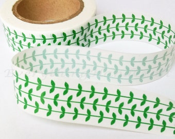Green Vine Washi Tape / Japan Sticky Adhesive Tape / Decorative Masking Tape Scrapbooking Tools Favor Stationery 10m j08