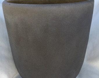 13 Lb Vintage Mid Century Modern Artist Signed Art Glass Vase Vessel