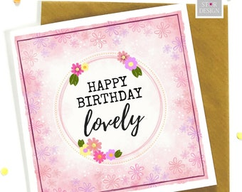 Happy Birthday Lovely Greeting Card, Special Friend, Boho Inspired, congratulations