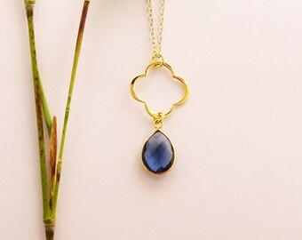 Kyanite Birthstone Necklace, September Birthstone, Kyanite Jewellery, Blue gemstone Necklace, Birthstone Pendant, Birthstone Necklace,