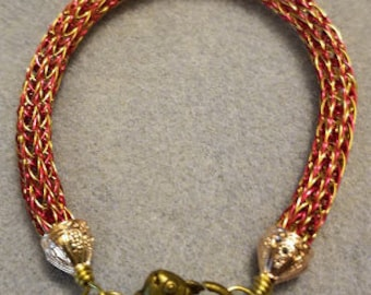 Viking Wire Bracelet - Magenta & Gold