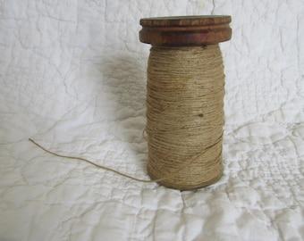 Vintage Wood Thread / Twine Spool Industrial