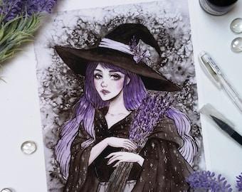 Lavender Witch Art print