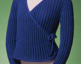 PDF Knitting Pattern Ballet Wrap Cardigan #154