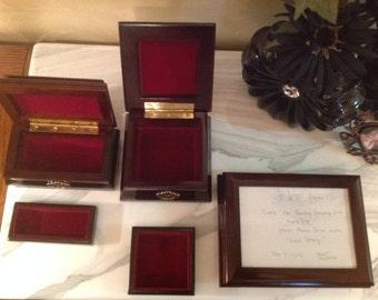 Set of 3 Bombay music jewelry box