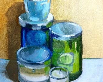 Jars of Reflection Original Painting, Oil Painting, Original Art, Art