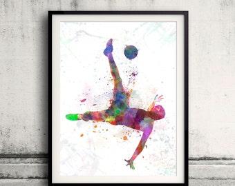man soccer football player flying kicking 04 - SKU 0579