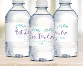 Water Bottle Labels, Wedding Welcome Bags, Destination Wedding, Wedding Favors, Waterproof Labels, Wedding Water Labels, Best Day Ever