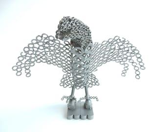 Eagle steel height measures 28 cm-width34 cm