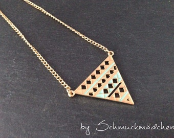 Chain gold triangle long
