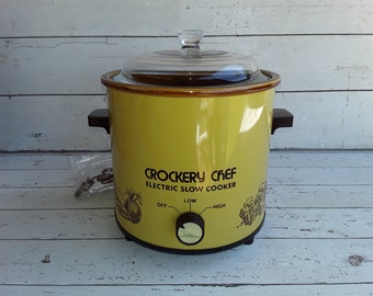 3.5 QT Crockery Chef  Electric Slow Cooker NOS