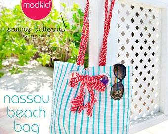 NASSAU Beach Bag PDF Downloadable Pattern by MODKID - Instant Download