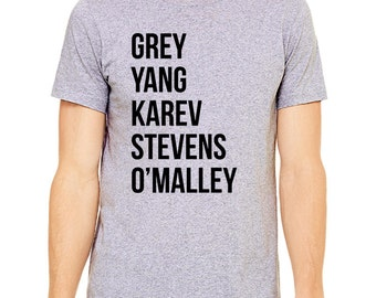 "Greys Anatomy Shirt ""Grey Yang Karev Stevens O'Malley"" Thursdays We Watch Greys Anatomy Shirt, A Beautiful Day To Save Lives Shirt"