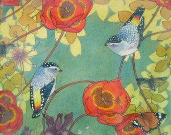 Secrets of Spring- limited edition print of original mixed media painting