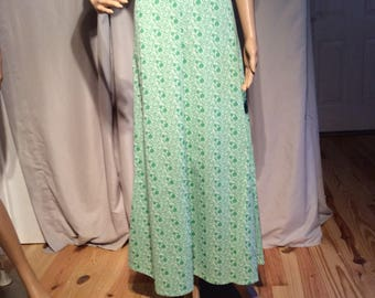 Handmade Vintage Short Sleeve, Empire Waist, Maxi Dress; Fits like a Ladies size Six(6) width across shoulders 15""