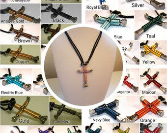 Disciple's Cross Keychain  Pick Your Color