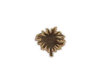 Palm Tree Laser Cut Lapel Pin