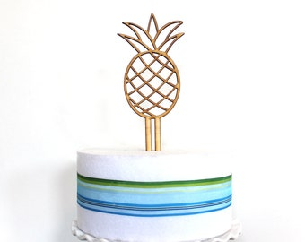 Pineapple Cake Topper, wedding cake topper, pineapple, wood cake topper, bridal shower, baby shower, Birthday cake topper
