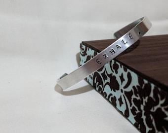 EXHALE Stamped Bracelet