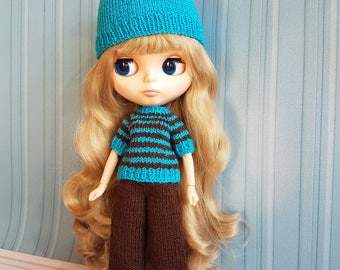 Blythe knitted outfit by NikiDollsToys