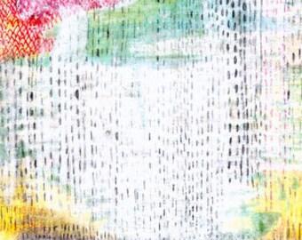 Summer Rain, Abstract Art Print, 5x7