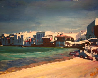 Picturesque Little Venice In Mykonos Greece - Limited Edition