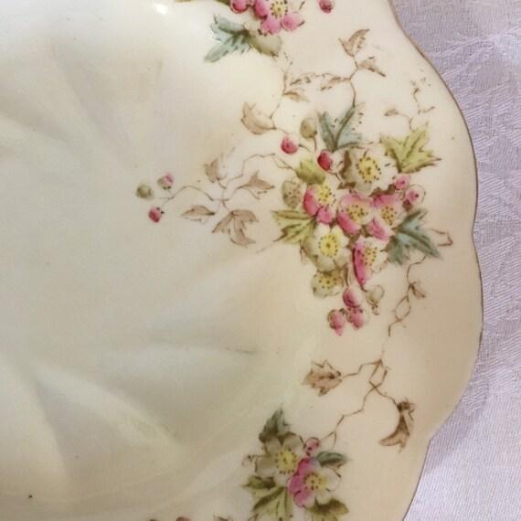 Set/7 Antique Chapman Bone China Dessert Plates