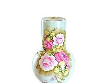 Vintage Lefton Carafe, Carafe and Tumbler, Carafe Set, Carafe Vintage, Lefton China, Lefton Heritage, Lefton Carafe, Heritage China, Wedding