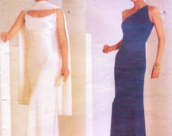 Tom and Linda Platt Womens Old Hollywood Evening Gown Vogue Sewing Pattern 2042 Size 12 Bust 34 Vogue American Designer Pattern