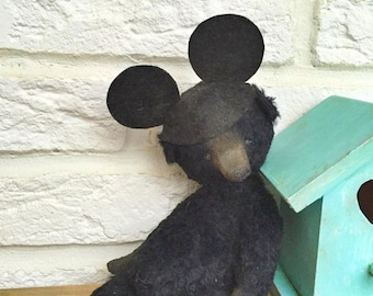 Sewing Pattern For 7,5 Inch Bear with Mickey Mouse Hat