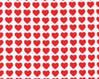 Little Hearts - White/Red 40675-13 by Lecien Cotton Fabric Yardage