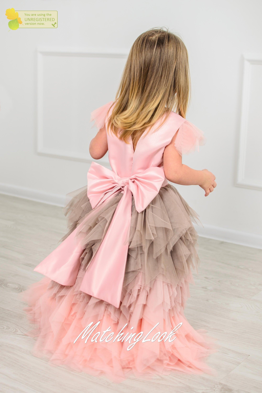 Birthday dress for baby girl dress for girl pink tutu dress dress birthday dress for baby girl dress for girl pink tutu dress dress with bow girls birthday dress tulle flower girl dress ombre dress izmirmasajfo
