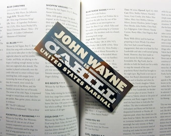 John Wayne - Cahill United States Marshal - Sands of Iwo Jima - Recycled VHS & DVD spine bookmarks Only ONE of each bookmark available