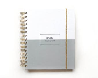 2018 2019 planner - 2018 personalized planner - 2018 planner - agenda - 2018 daily planner - 2018 weekly planner - graduation gift