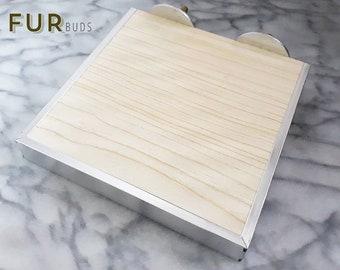 Medium Wooden Ledge with aluminum bite proof edge for rats, hamster, chinchilla, rabbit, sugar glider, squirrel