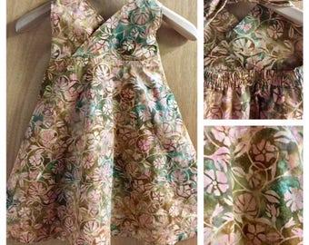 Batik Boho Sundress, child size 6