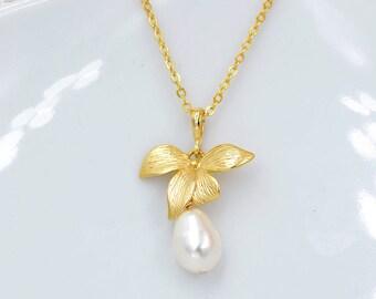 Crystal bridal necklace , Kate, Perle CZ wedding necklace, bridal pearl necklace, Vintage CZ colliers, bridal pearl, bridal jewelry