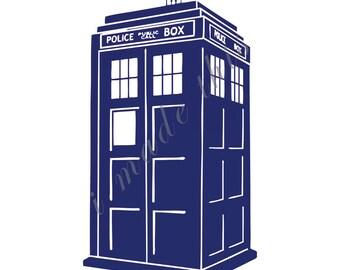 Doctor Who Tardis Vinyl Sticker
