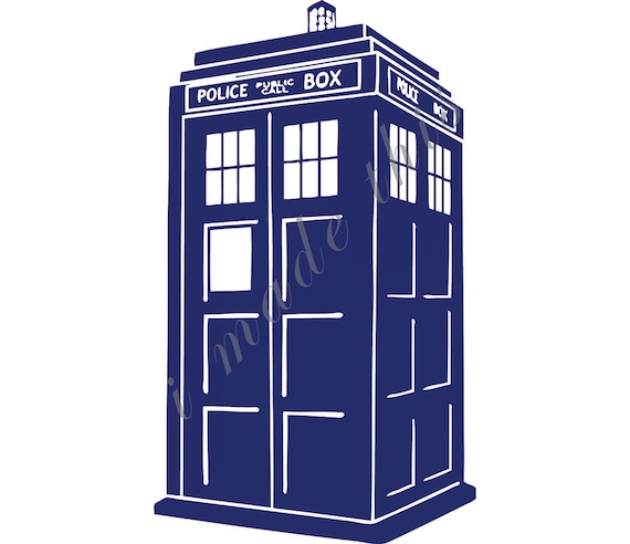 doctor who tardis vinyl sticker. Black Bedroom Furniture Sets. Home Design Ideas
