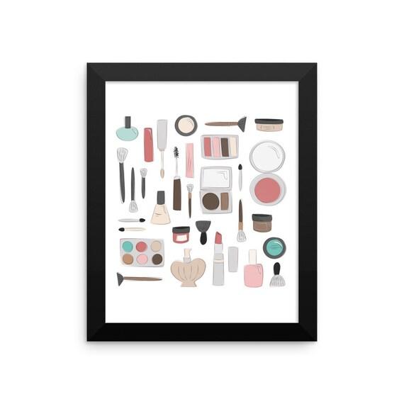 Let's Makeup Framed Poster