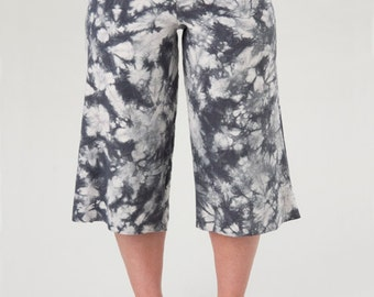 Capri Pants Shibori Pants Hemp Apparel Festival Pants Yoga Pants Capri Pants Yoga Clothing Dance Clothes Workout Pants Gift for Her