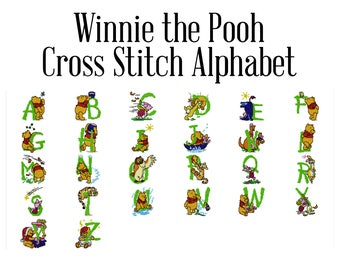 Broderie disney etsy - Lettre alphabet winnie l ourson ...