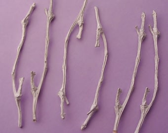 silver twigs cast twig branches silversmithing supplies UT004-6