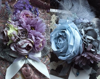 Huge rosette/headdress (classic lolita, sweet lolita, ouji, aristocrat, dark mori, dolly kei, flowers, brooch, pastel, wedding, vintage)