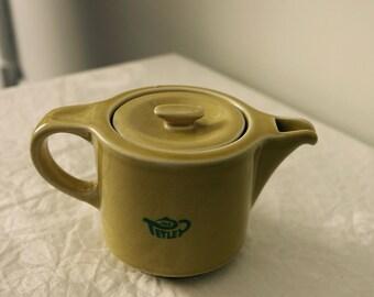 Vintage French Advertising Teapot