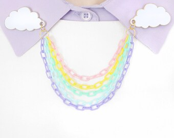 Rainbow collar clips / sweater chain