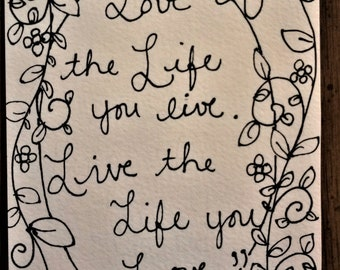 Love the Life You Live - Original, One of a Kind Painting Page