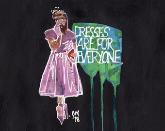 Dresses are for Everyone (Original Painting)