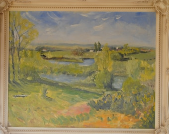 Landscape Painting Landscape Oil Painting Original Painting  impressionist painting Playford Suffolk